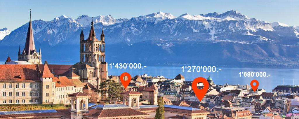 Lausanne estimation immobilière prix